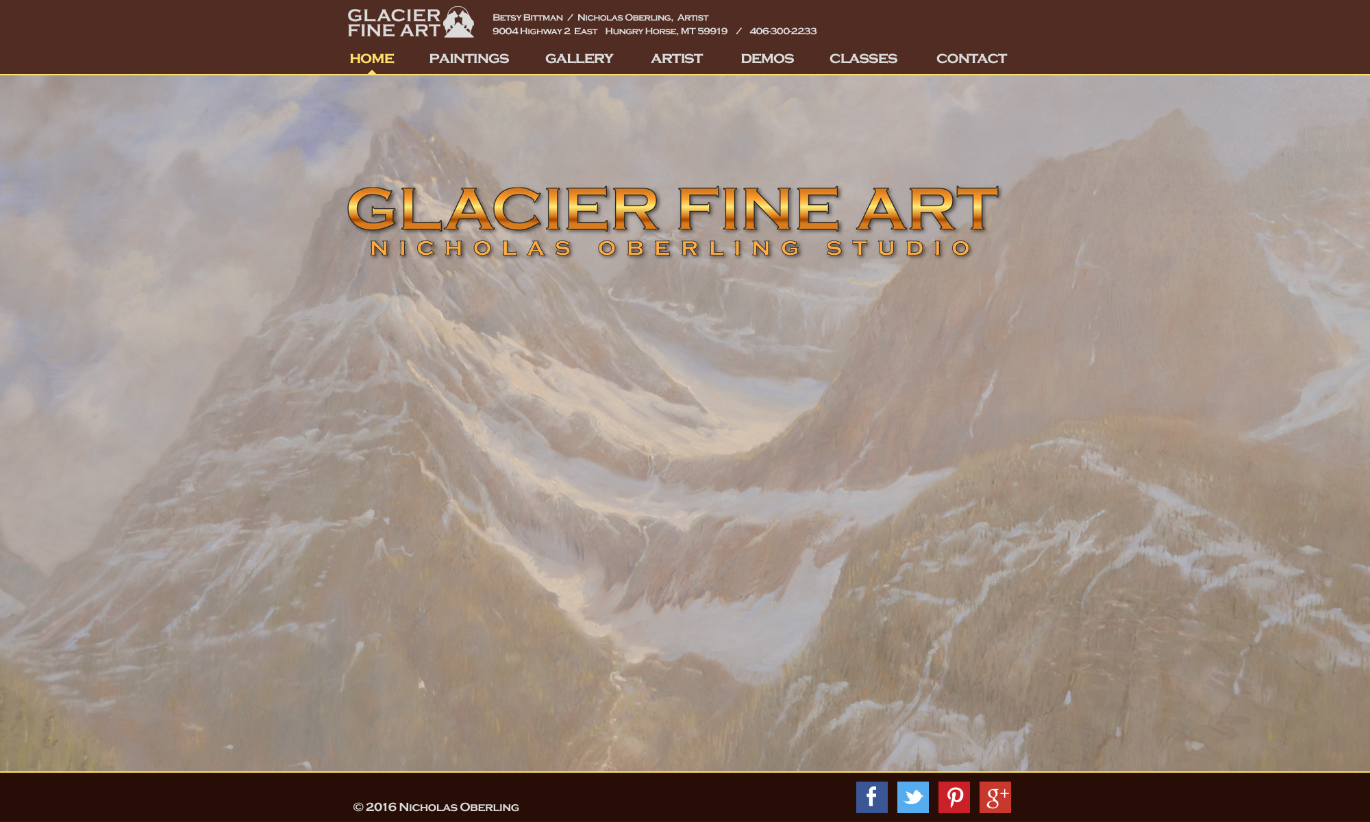 website design image painting of mountains
