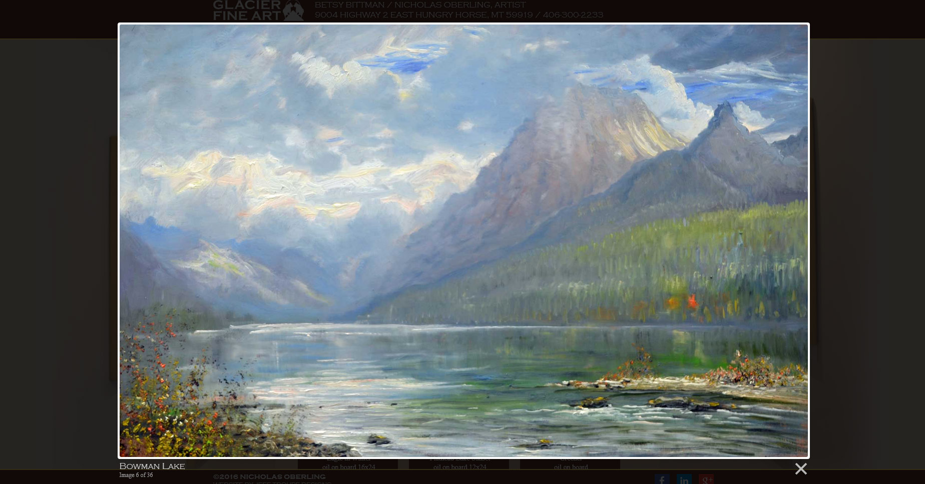 website design image painting of mountains and lake