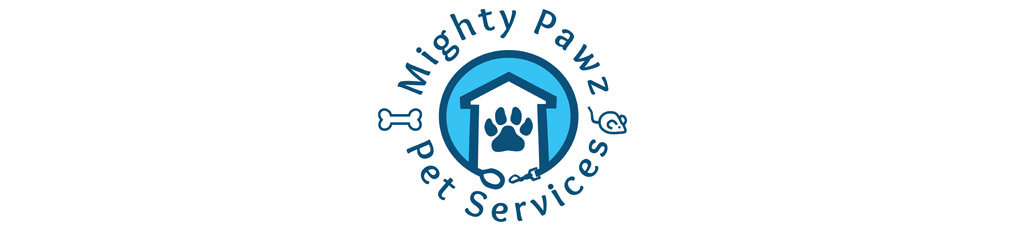 Mighty Pawz logo and branding graphic design