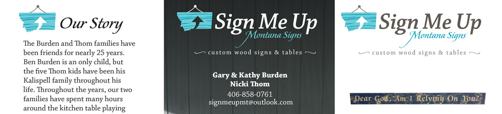 Sign Me Up Montana Signs logo graphic design