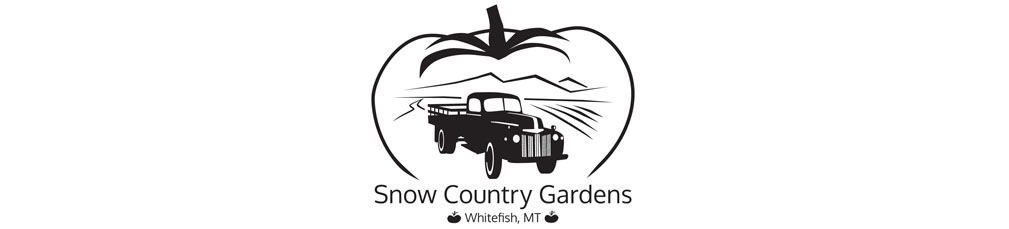Snow Country Gardens logo and branding graphic design